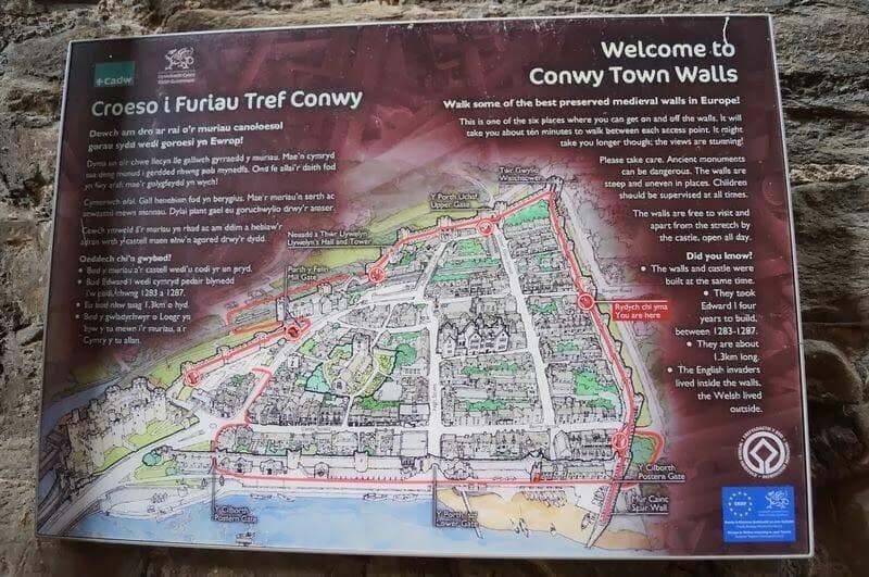 muralla de Conwy plano