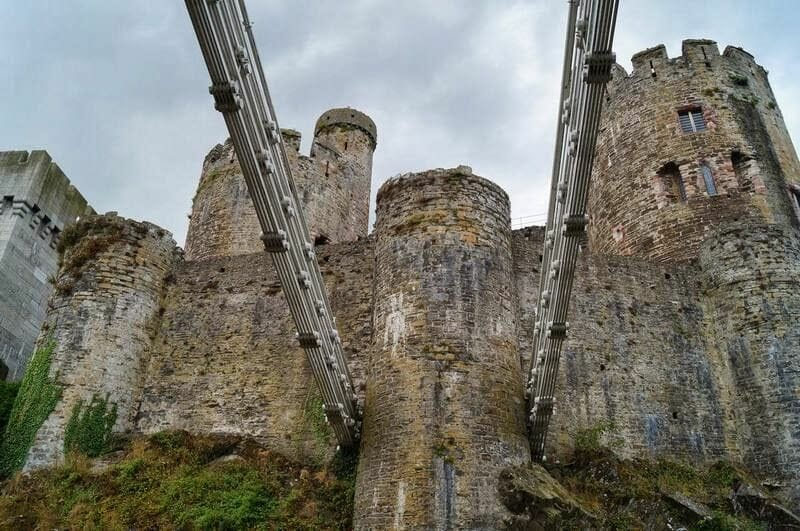 castillo de Conwy desde el puente de Telford