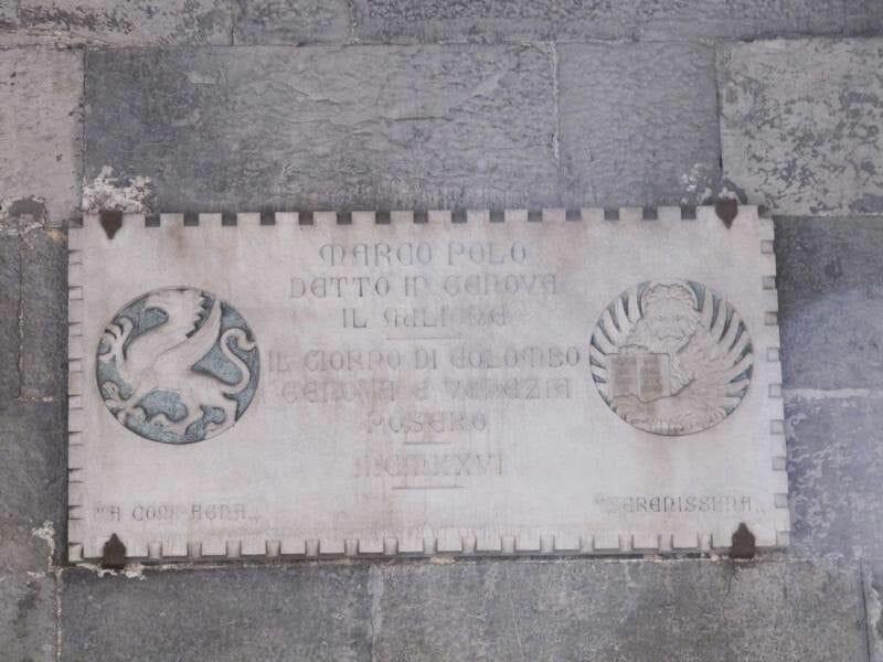 "cárcel de Marco Polo, en la que escribió ""Il Milione"","