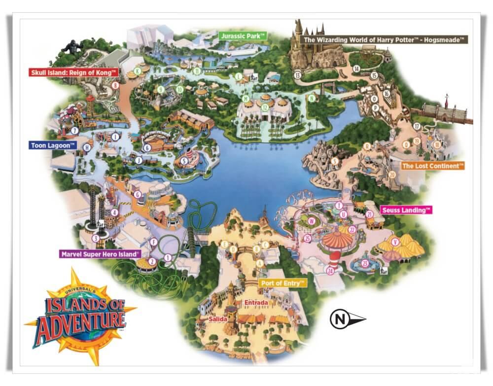 mapa universal island of adventure