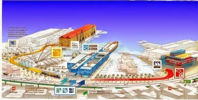 puerto viejo genova mapa
