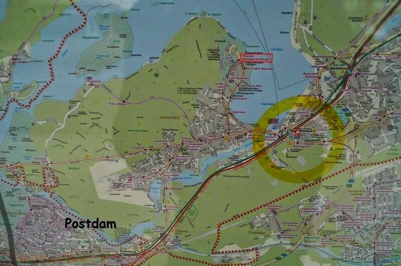 Mapa casa de la Conferencia de Wannsee