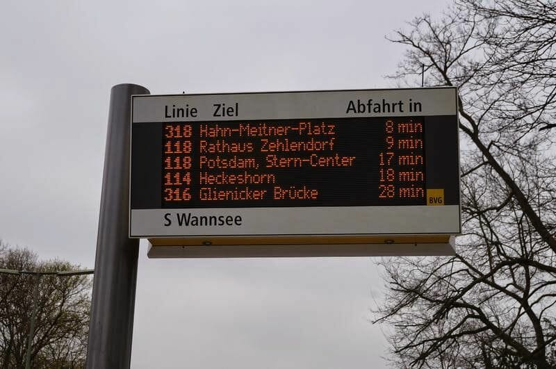 horarios buses wannsee