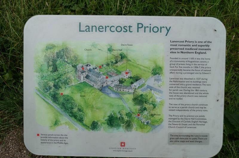 Lanercost priory dibujo