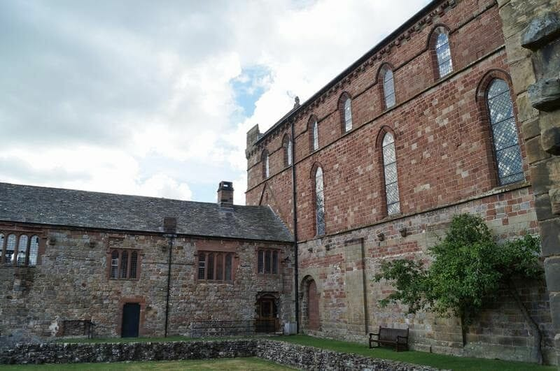Lanercost priory patio interior