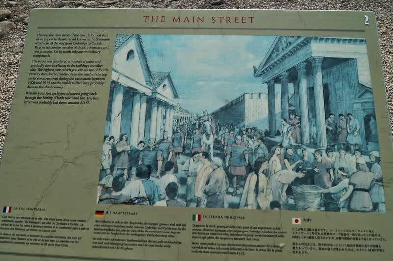 muro romano CORBRIDGE calle principal