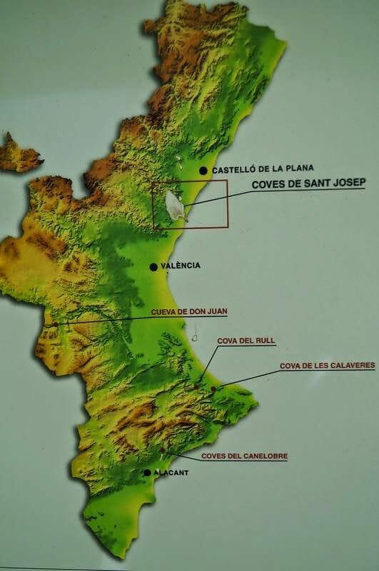 mapa coves de Sant Josep
