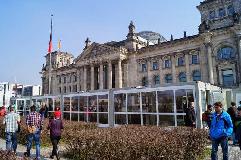 zona acceso de seguridad parlamento alemán