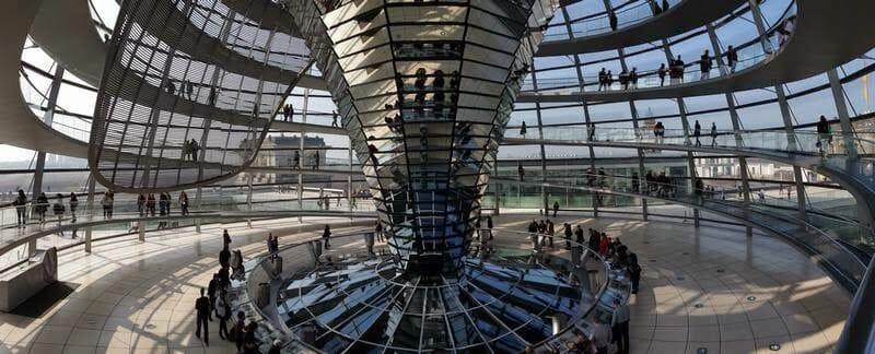 cupula del reichstag, parlamento aleman, bundestag, visita parlamento