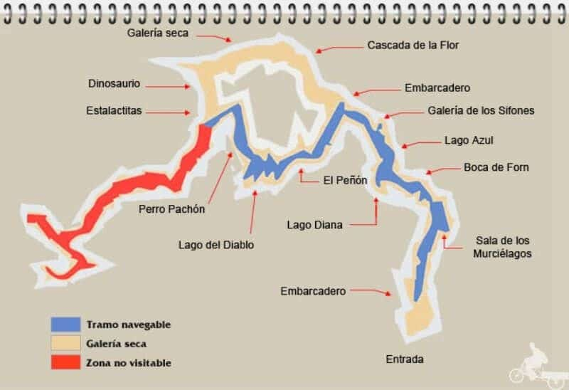 mapa de las coves de sant josep