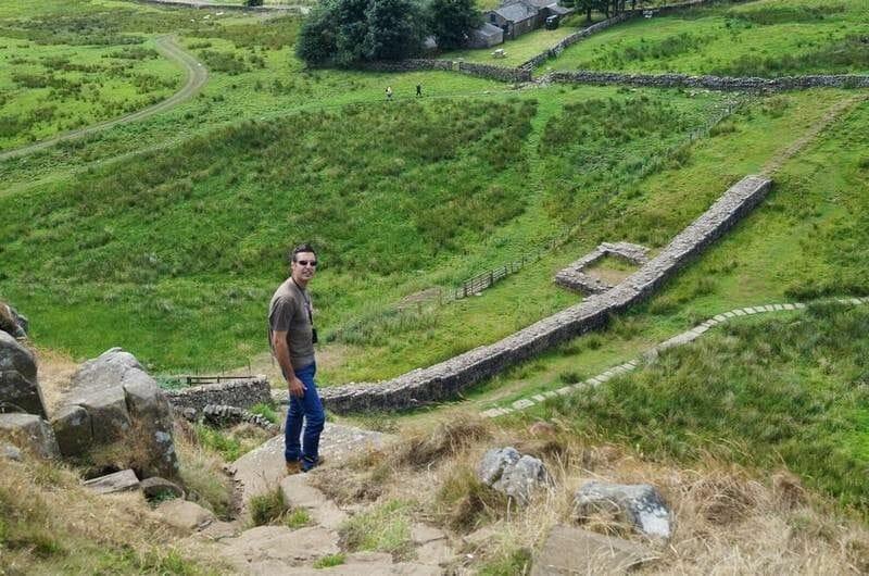 tramo del muro de adriano