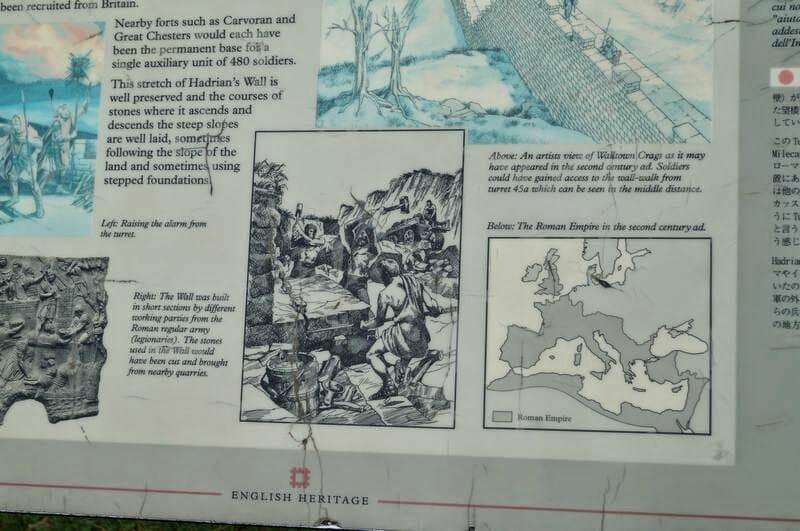 Walltown Crags construccion muro adriano