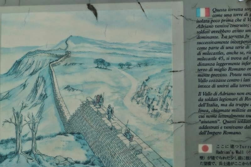 Walltown Crags dibujo