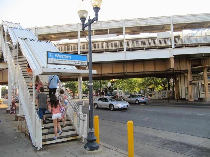 parada metro western chicago
