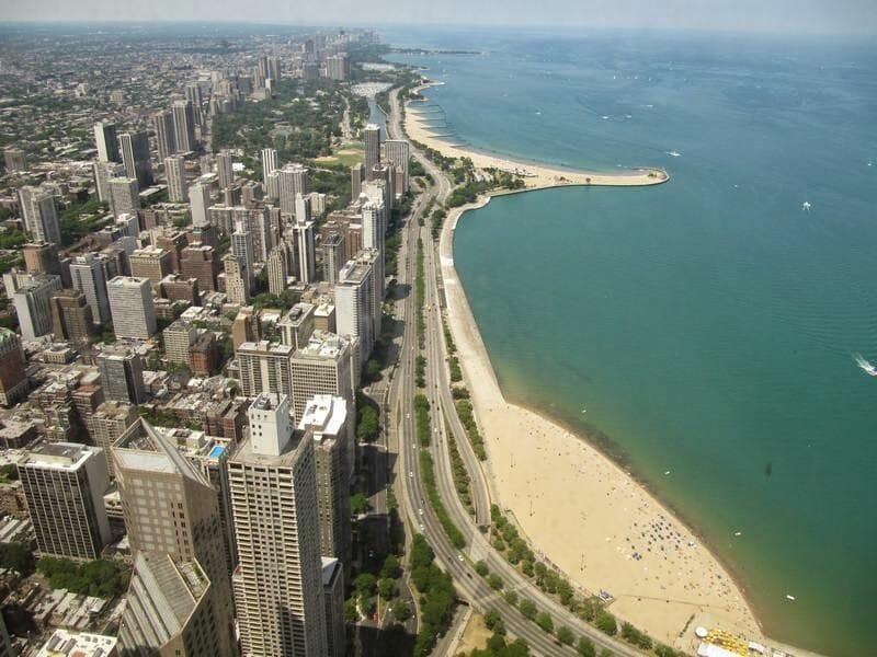 playa Chicago desde Torre Hancock