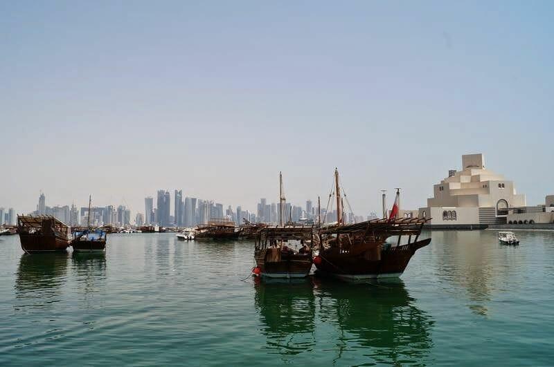 skyline de Doha, Qatar, rascacielos de Doha, Qatar 2022, corniche, museo islámico
