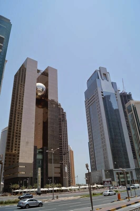 skyline de Doha, Qatar, rascacielos de Doha, Qatar 2022,