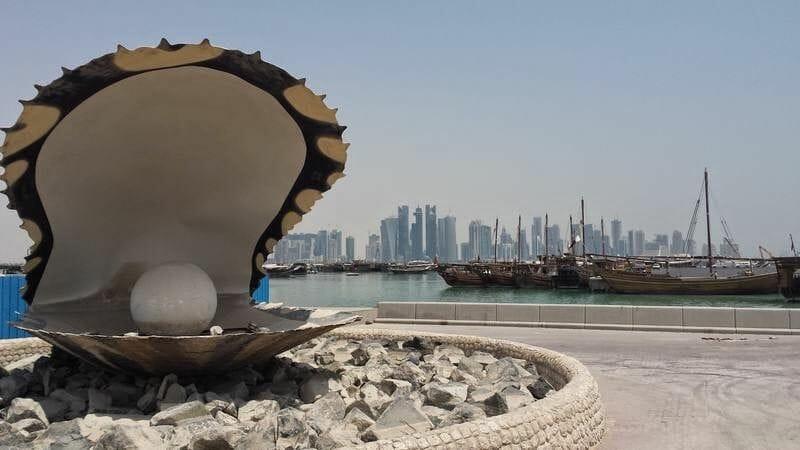 skyline de Doha - stopover en Doha escala