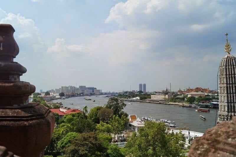 vistas desde el templo de Wat Arun