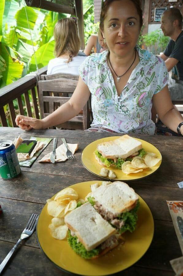 comida Maese Elephant park Chiang mai