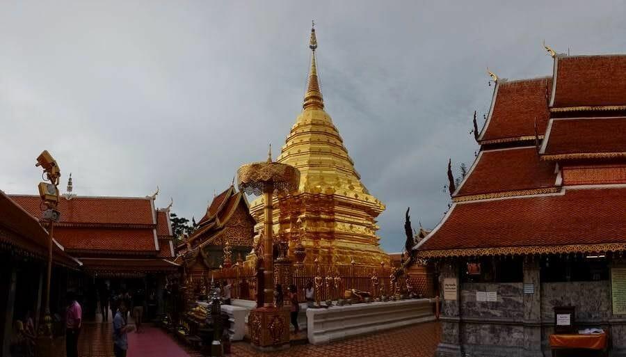 estupa dorada Wat Phra That Doi Suthep.