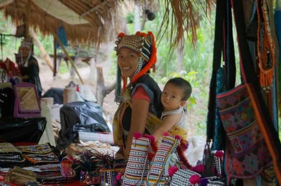 Mujeres Jirafa chiang mai