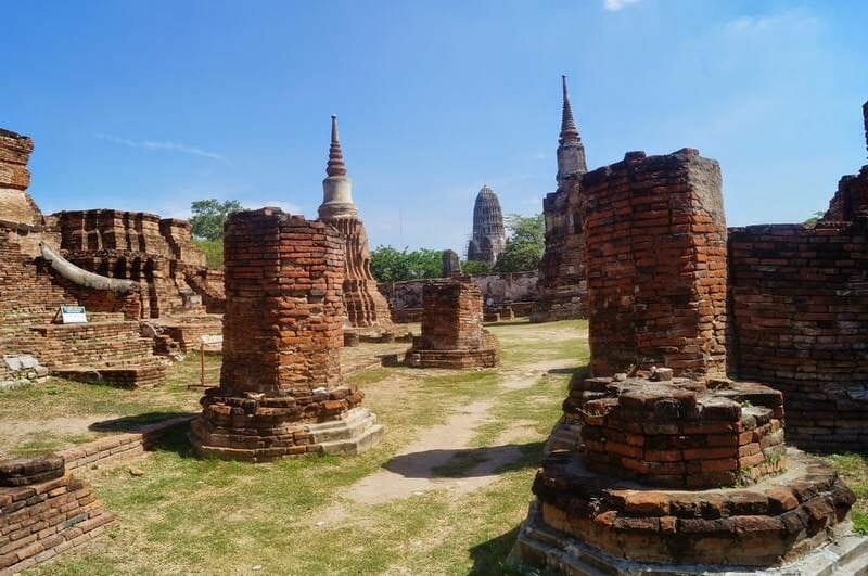 ruinas ayutthaya Wat Mahathat,