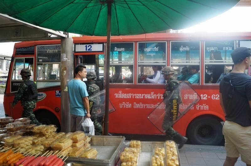 golpe militar tailandia 2014, victory monument