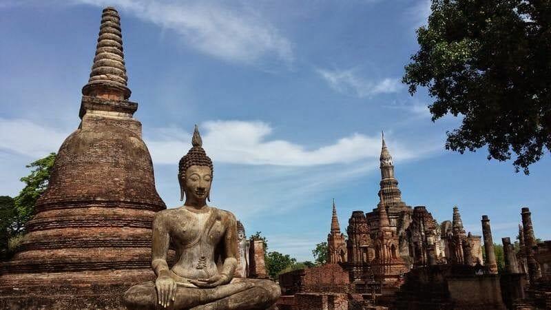 templo de Wat Mahathat Sukhothai