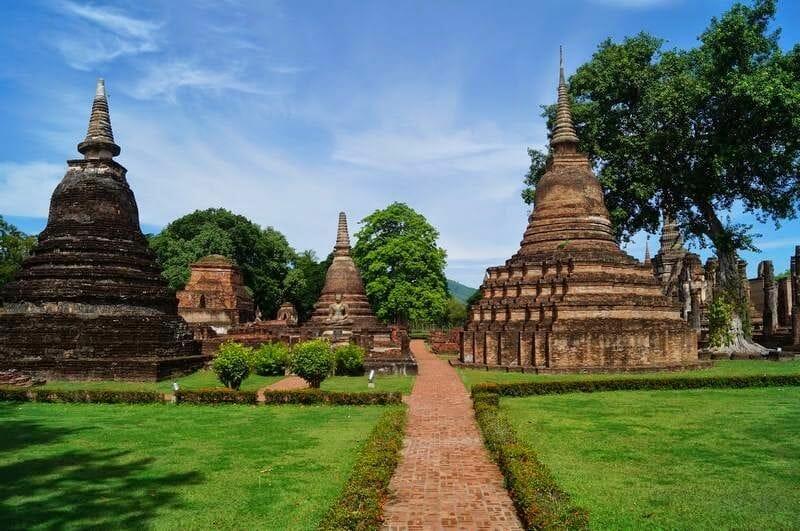 templos de Sukhothai Tailandia