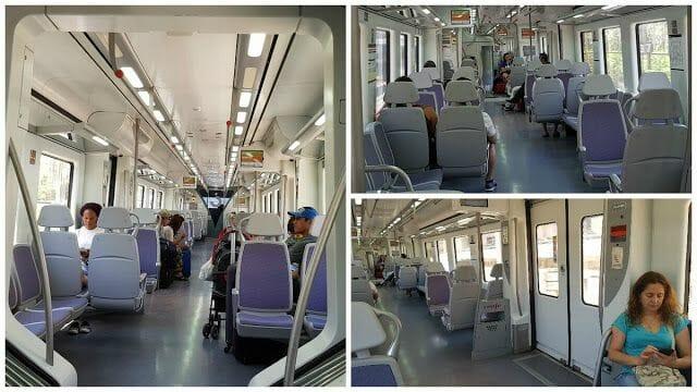interior tren renfe para ir del aeropuerto a barcelona