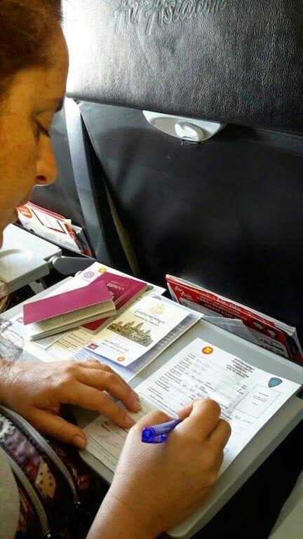 CONTROL PASAPORTES Y OBTENCIÓN DE VISADO de CAMBOYA