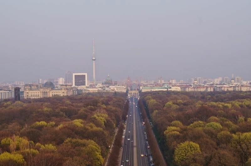 vista desde la columna de la Victoria de Berlín