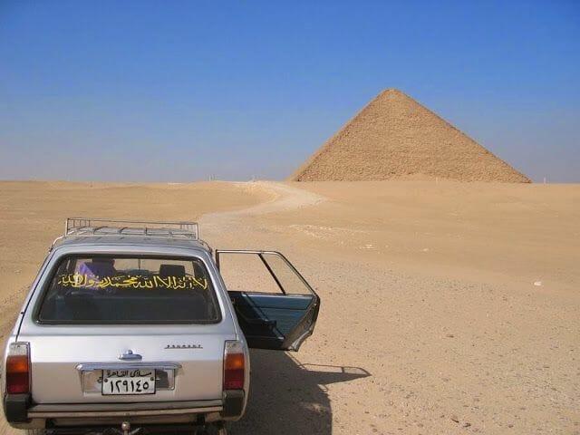 pirámide roja desde el cairo