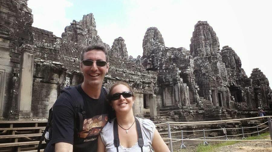 Templo Bayon en el circuito corto de Angkor