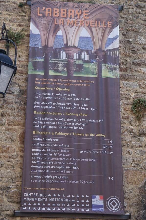 entradas mont saint michel