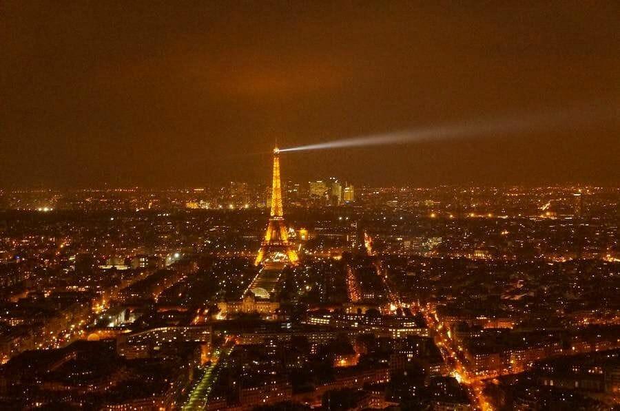 vistas de la torre Eiffel desde torre de Montparnasse
