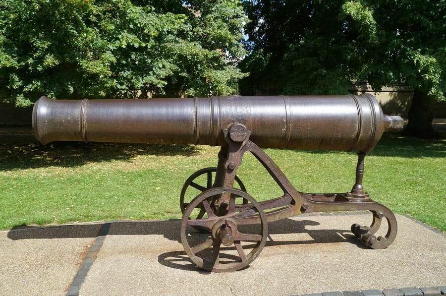 cañón capturado durante la Guerra de Crimea
