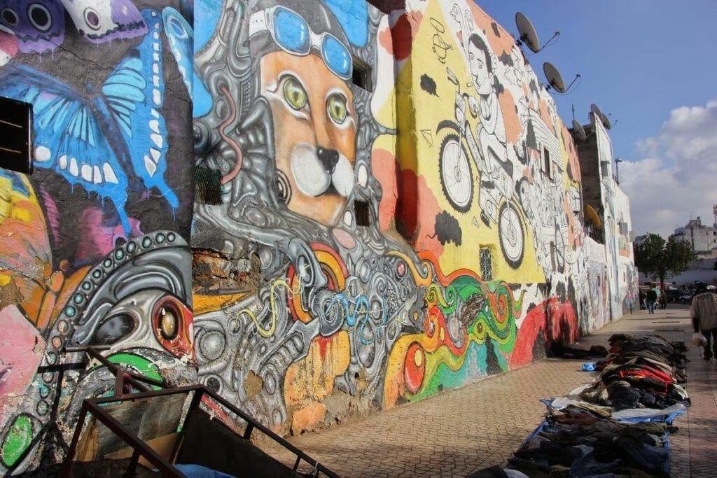 Murales grafittis de Casablanca