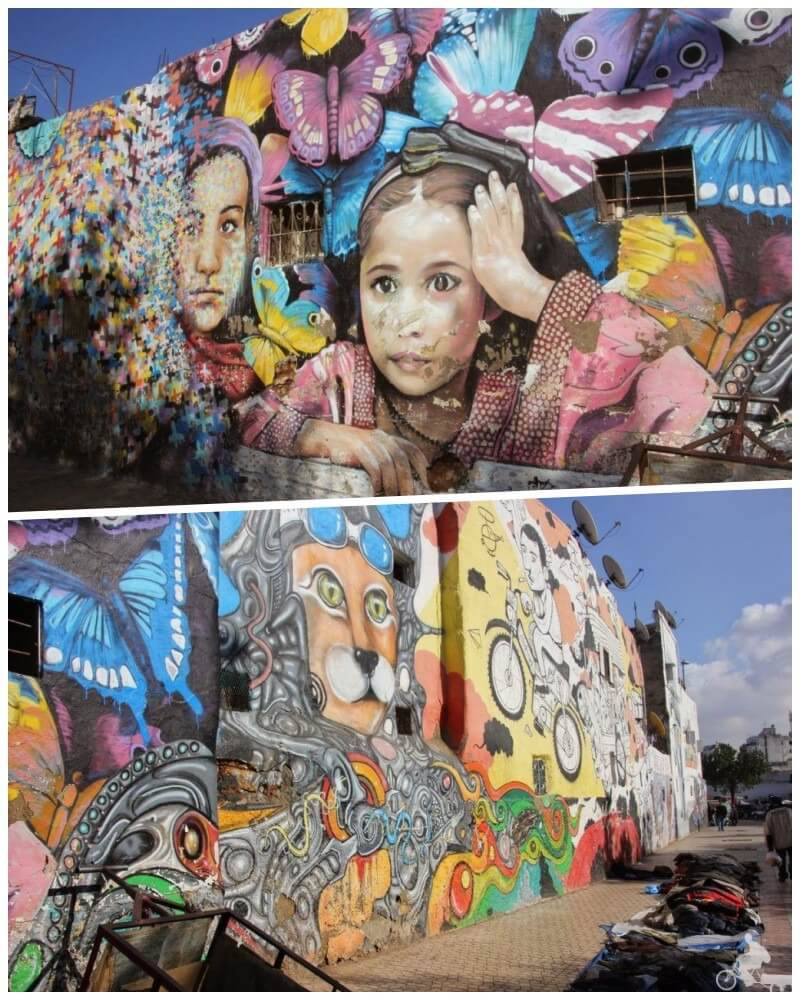 grafittis casablanca pinturas murales