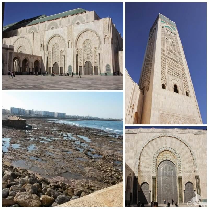 fachada de la gran mezquita de hassan ii en casablanca