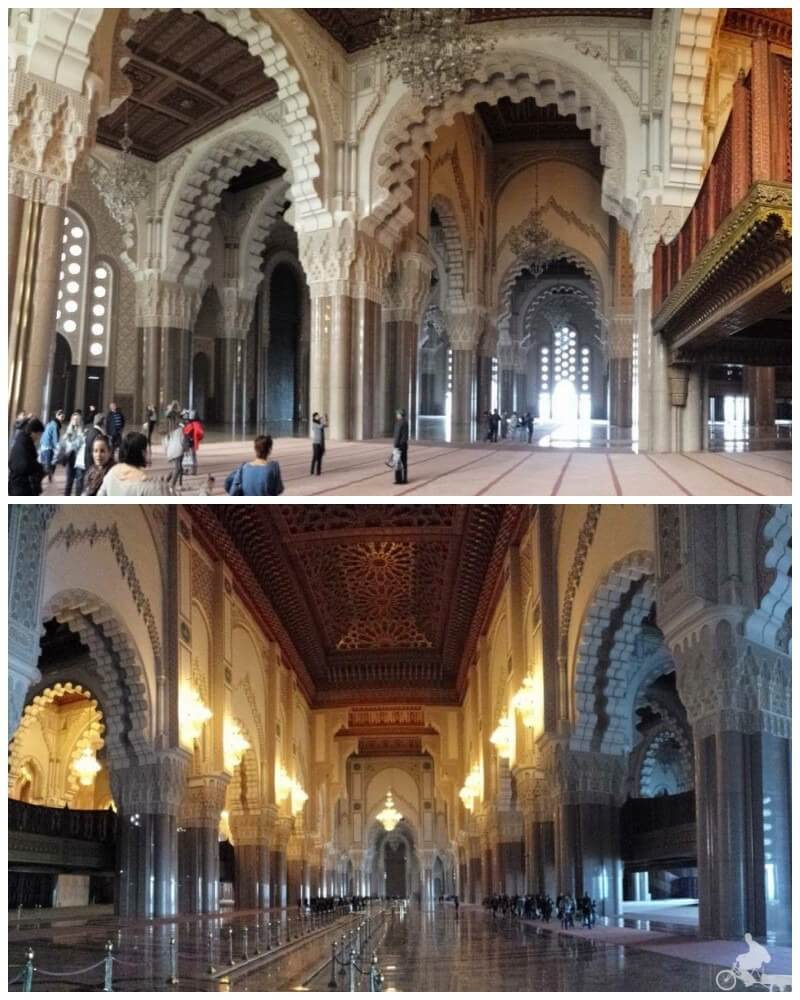 mezquita de hassan II interior
