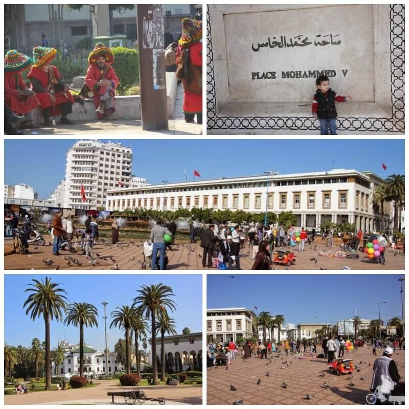 plaza de Mohhamed V en Casablanca