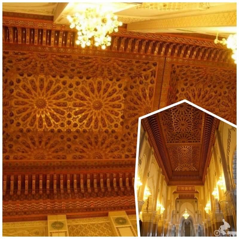 techo mezquita hassan II de casablanca