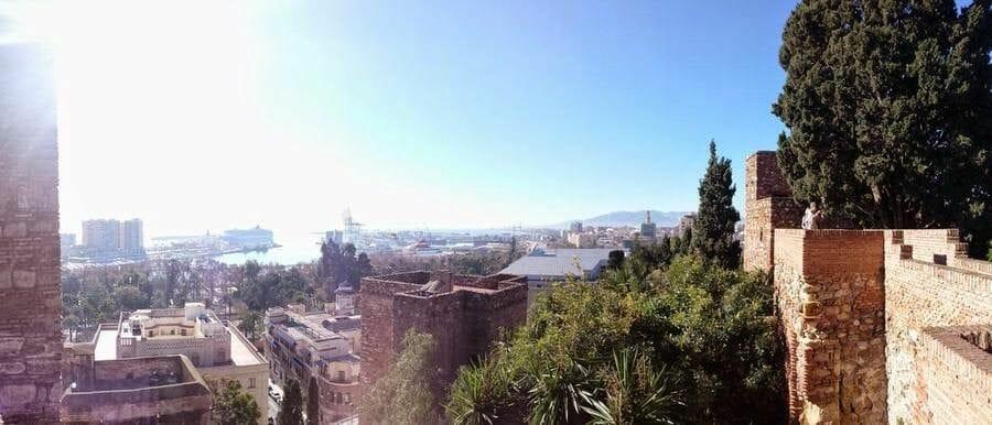 vistas desde Alcazaba de Málaga