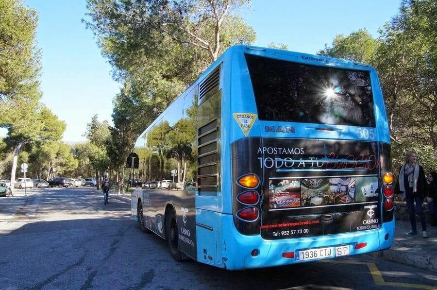 bus 35 de malaga al Castillo de Gibralfaro
