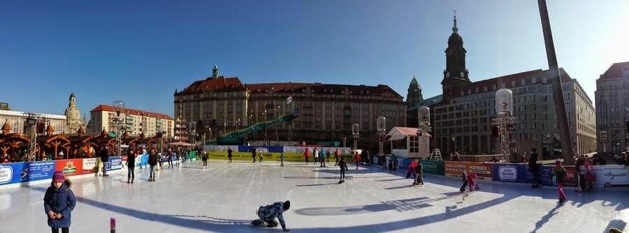 plaza Altmarkt pista hielo
