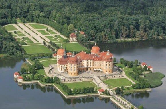 Castillo de Moritzburg desde el aire