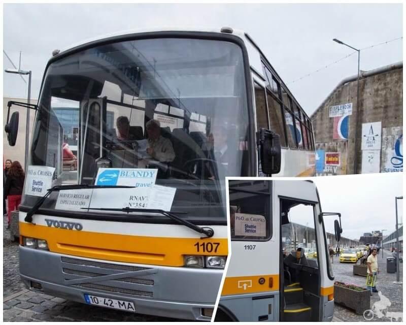 autobús del puerto de cruceros de Funchal islas madeira