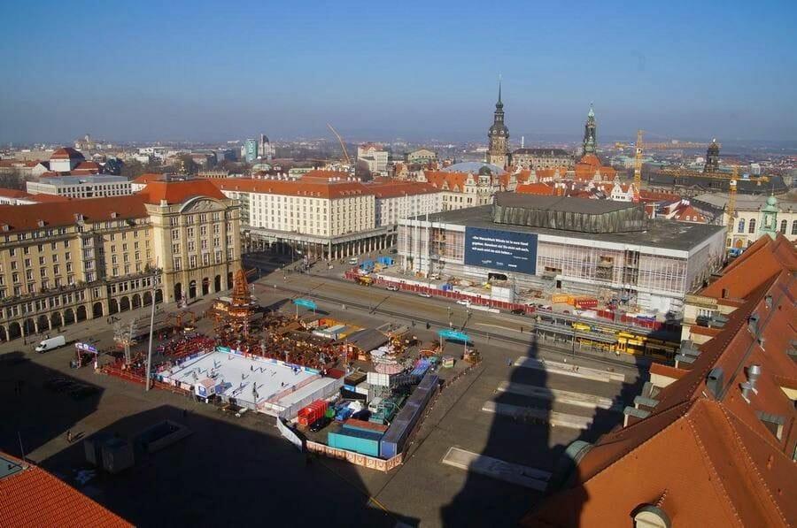 vistas altmarkt desde cúpula Kreuzkichner de Dresden